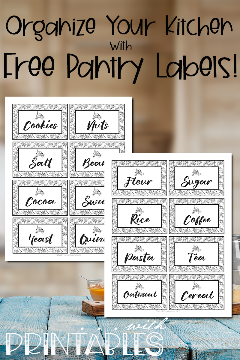 It's just a photo of Free Kitchen Printable with pantry